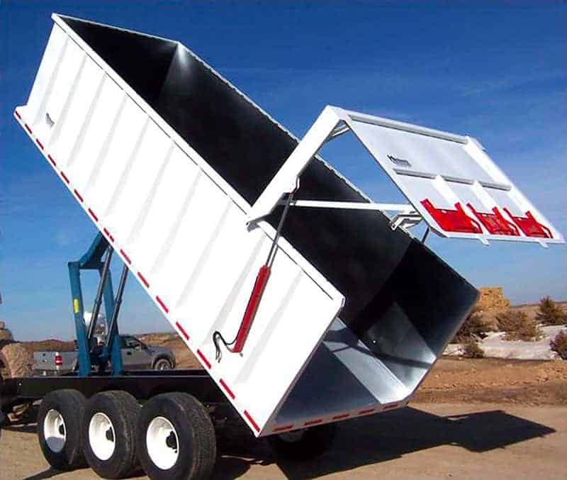 all purpose dump trailer rear corner silage